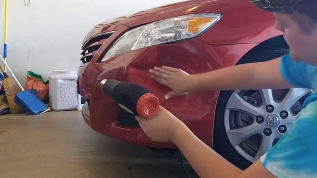 Как заделать вмятину на машине своими руками
