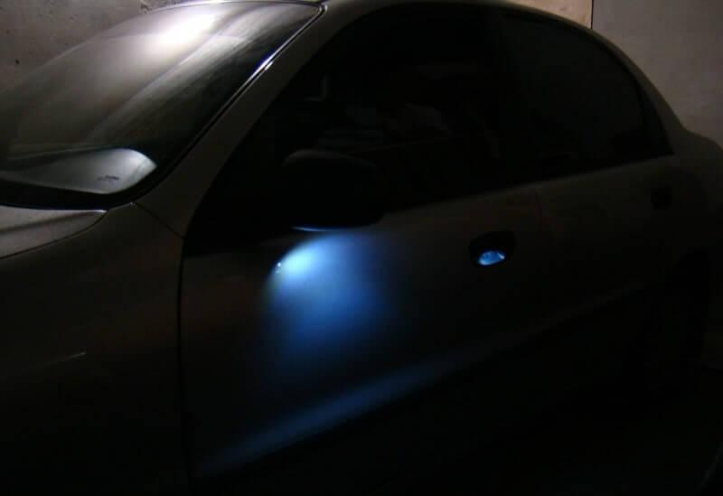 Светодиодная подсветка дверных ручек на авто