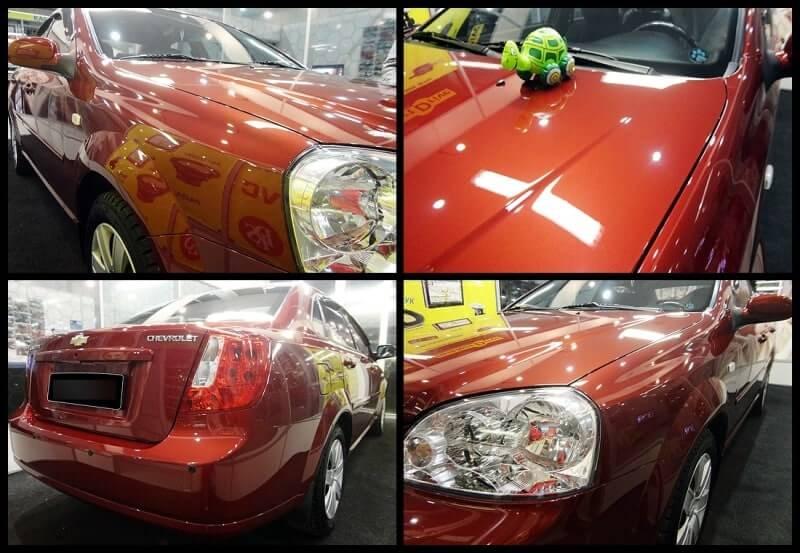 Результат покрытия автомобиля керамической полиролью