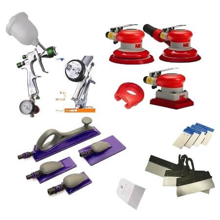 Инструменты для покраски крыла