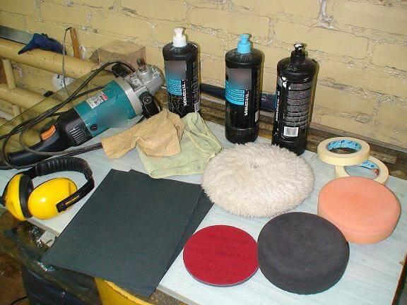 Средства для полировки кузова автомобиля