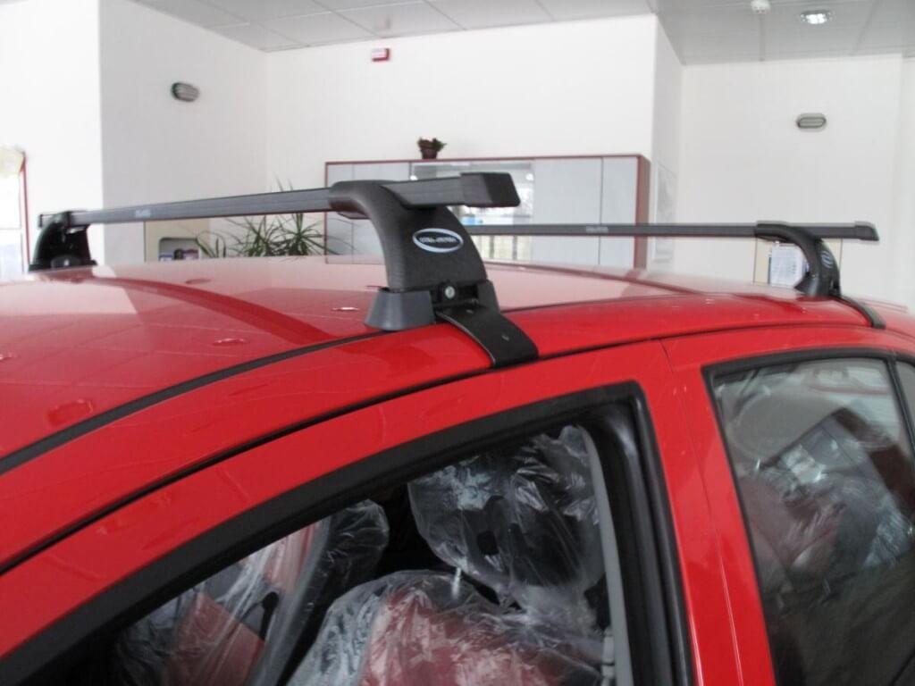 Установка багажника на гладкую поверхность крыши
