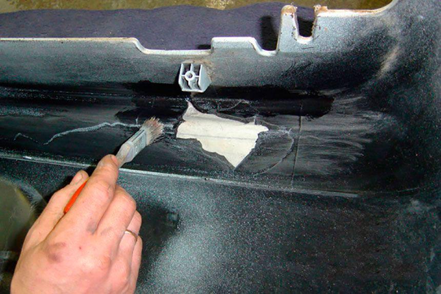 Для ремонта бамперов продаются специальные ремкомплекты.