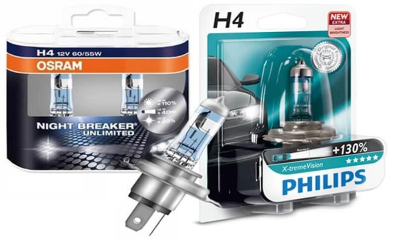 Лампы от брендов Osram или Philips - лучшие варианты.
