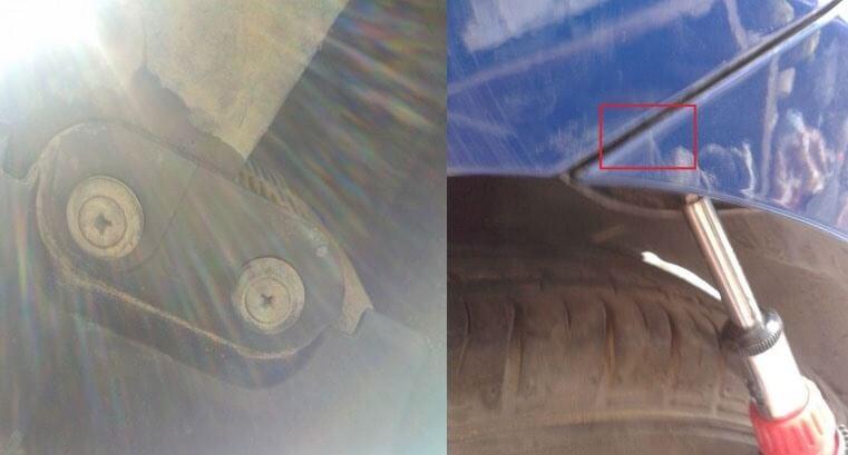 Под бампером также есть крепления кузова.