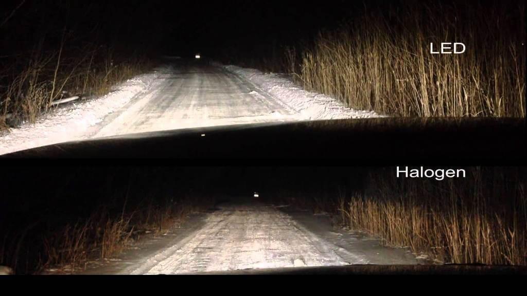 Сравнение светодиодных и галогенных ламп ближнего света