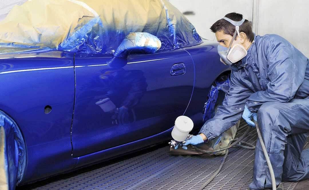 Краскопульт используется для покраски авто