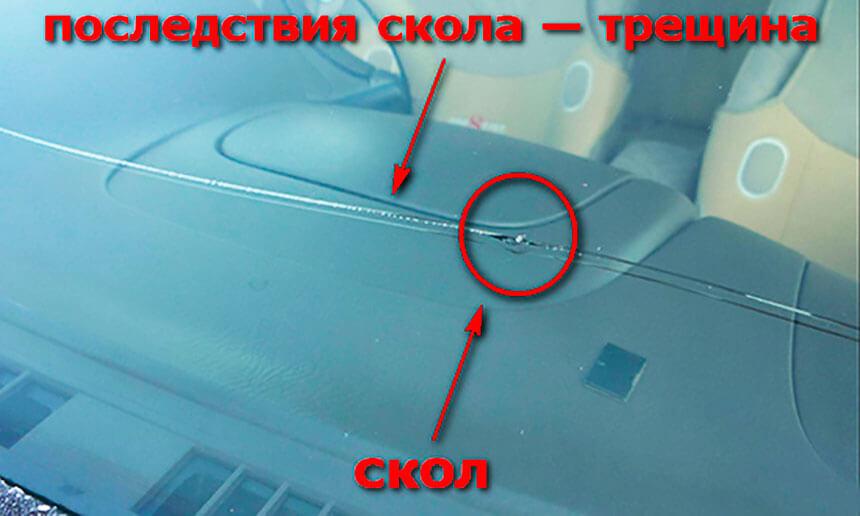 Ремонт трещины на лобовом стекле автомобиля