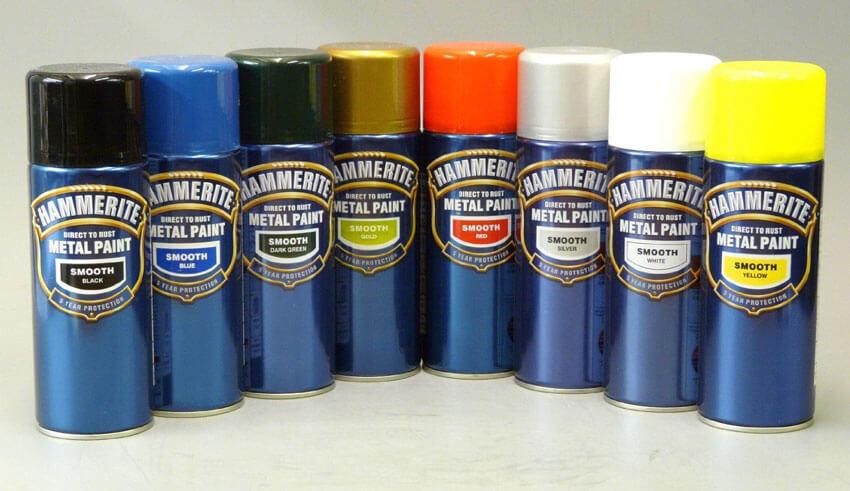 Краска hammerite в баллончиках разных цветов