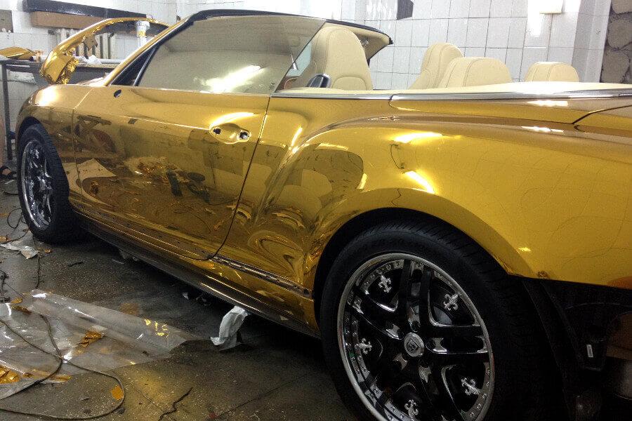 Как правильно обклеить авто золотой пленкой
