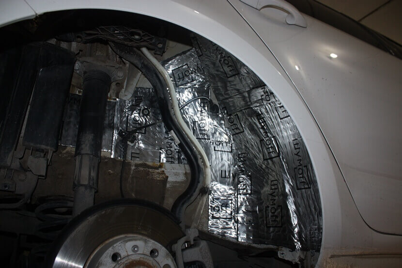 Шумоизоляция арок автомобиля своими руками фото