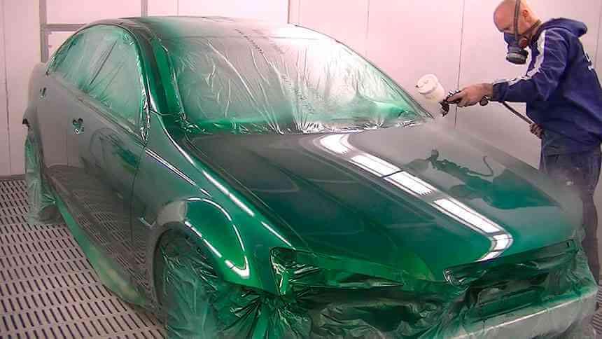 Технология покраски автомобиля металликом