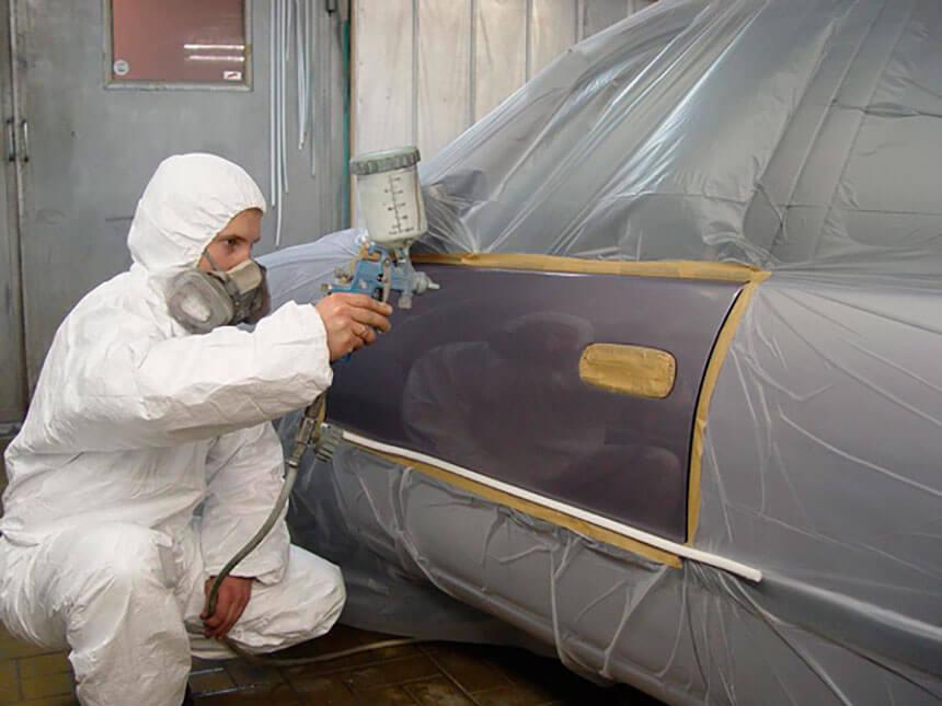 Выборочная покраска автомобиля - защищаем пленкой все, что не будем красить