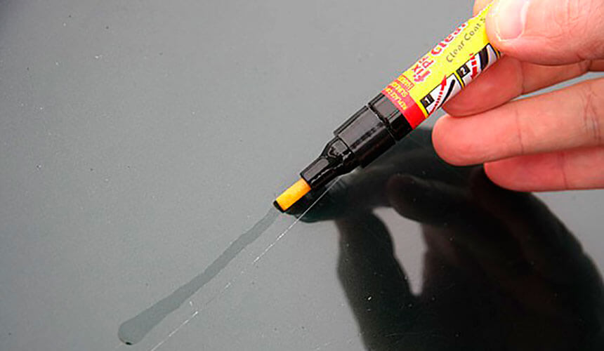 Устранение царапин карандаш-краской