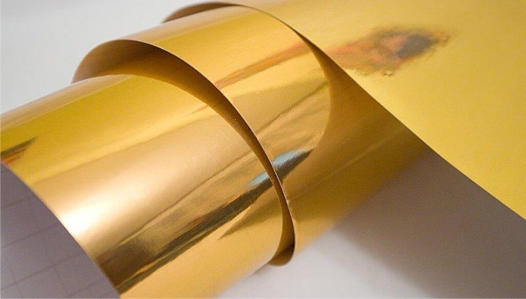 Золотая пленка под хром (зеркальная)