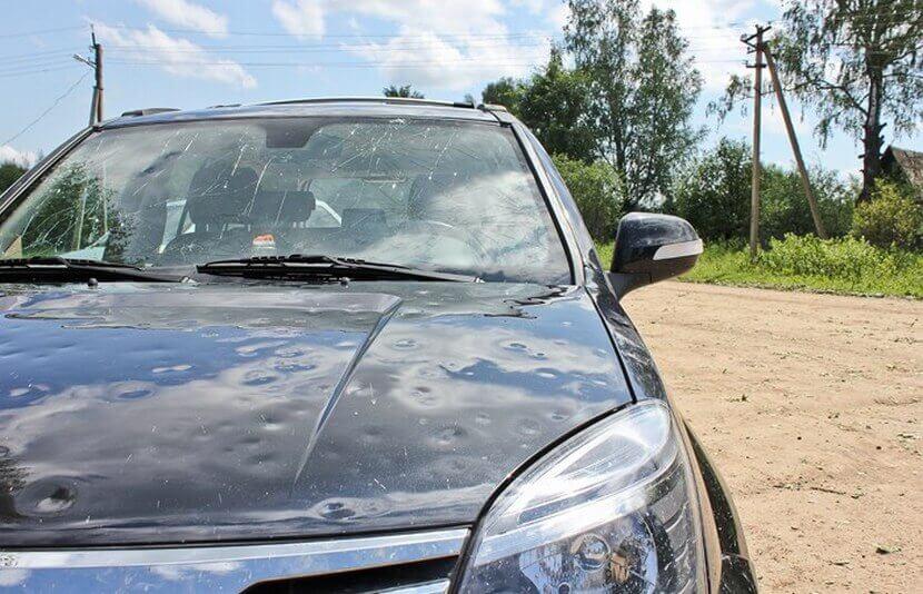 Удаление вмятин на автомобиле после града