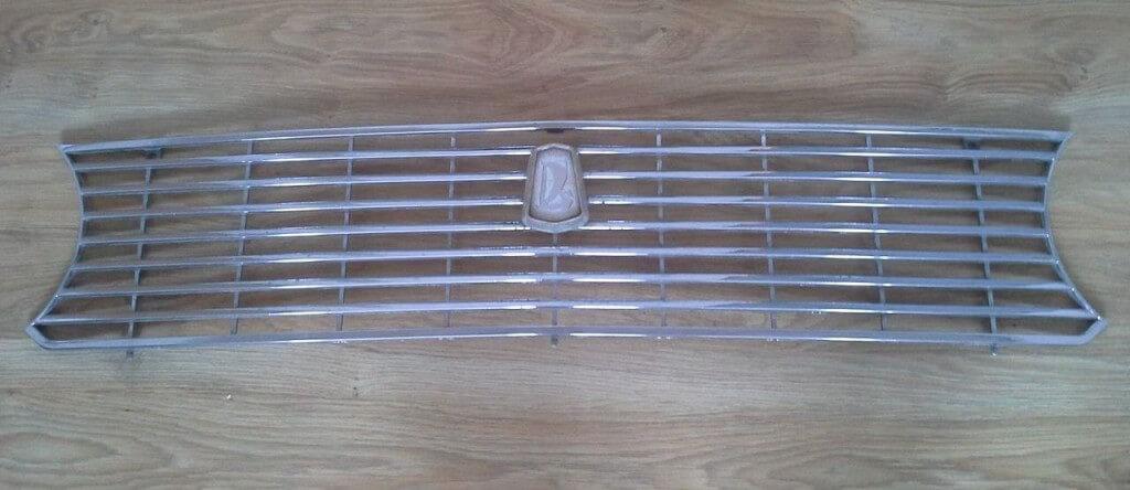 Удаление хрома с решетки радиатора автомобиля