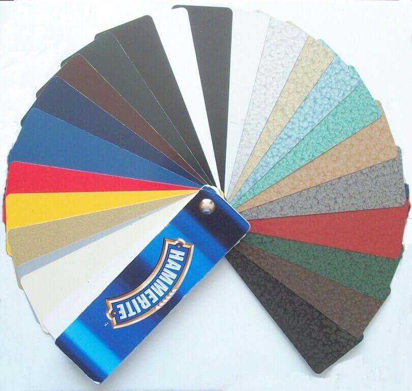 Цветовая гамма краски Hammerite