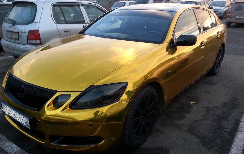 Золотой хром – пленка для оклейки авто