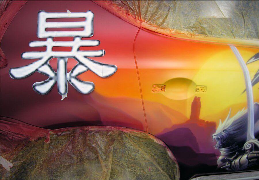 Самодельный трафарет на покраски автомобиля
