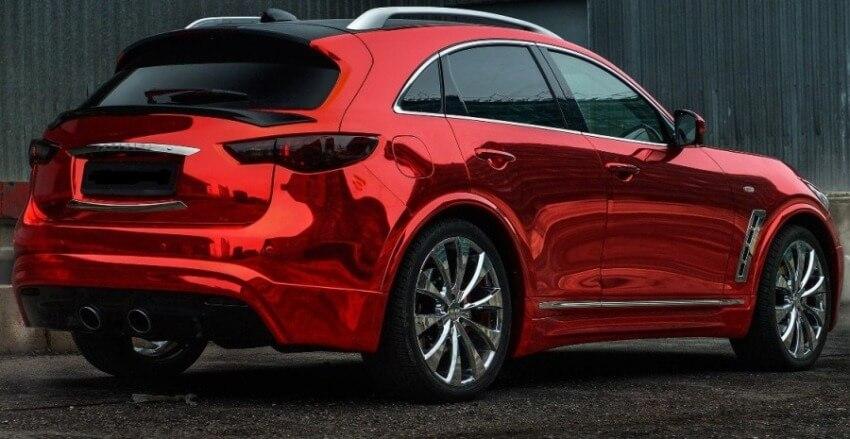 Красный хром - пленка для машины
