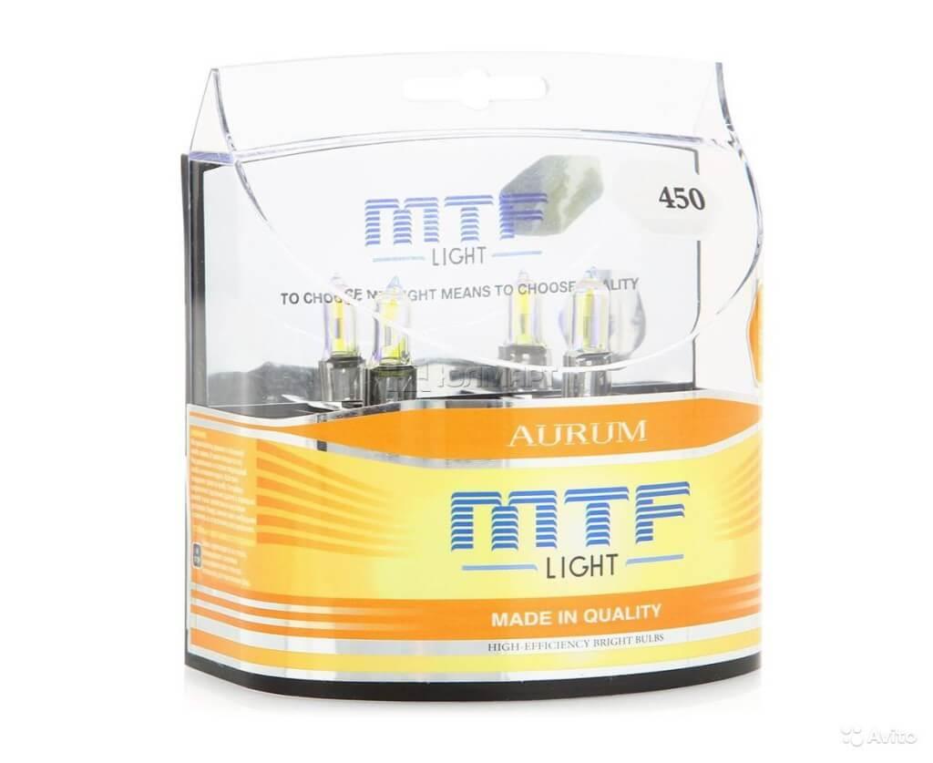 Лампы ближнего света MTF H3 12V 55w Aurum 3000K