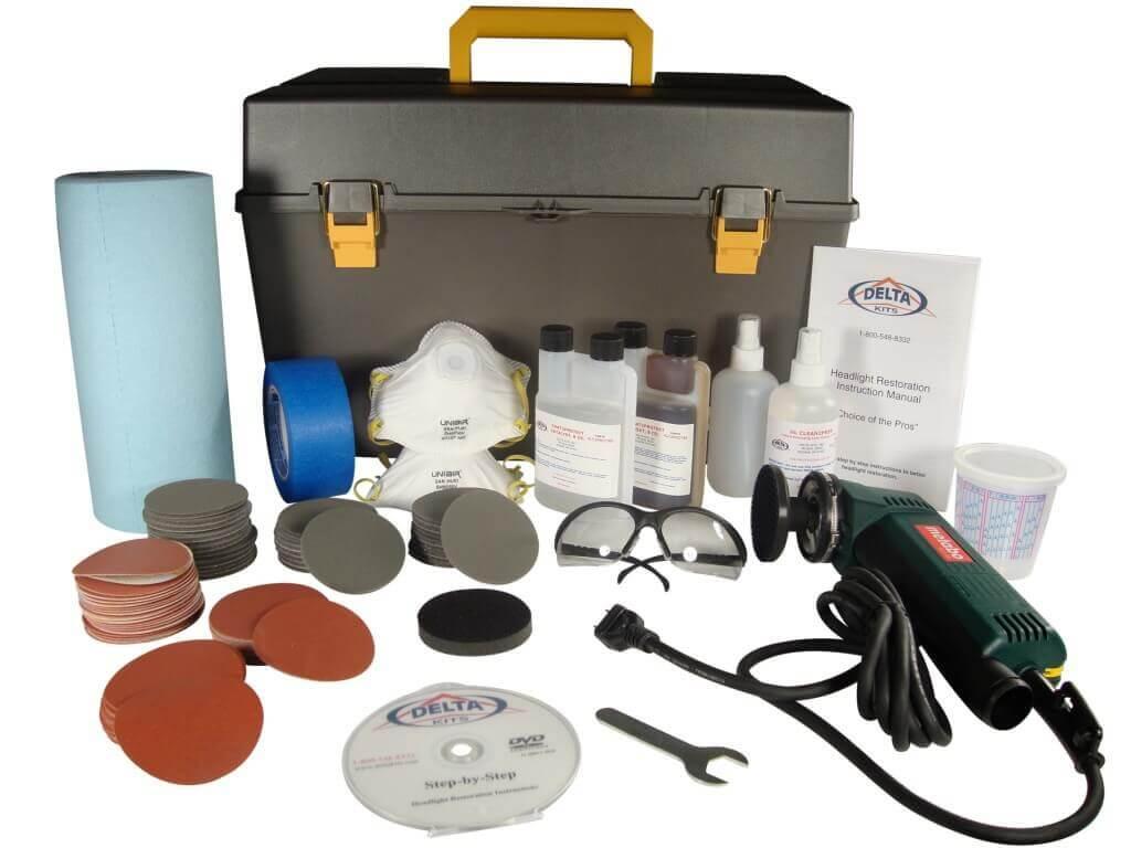 Материалы для полировки фар автомобиля