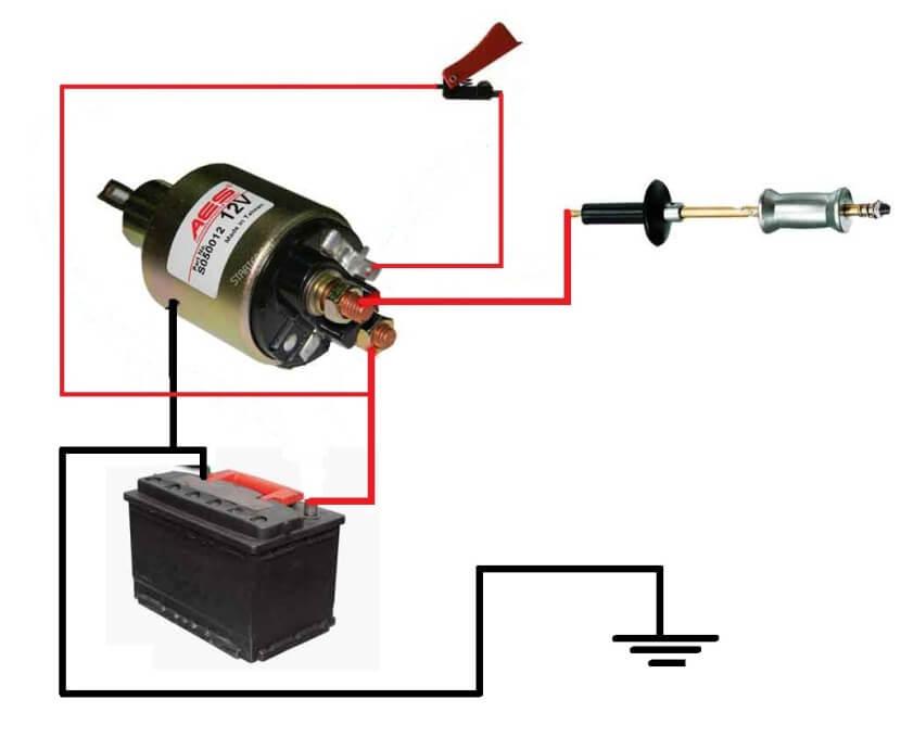Схема споттера из аккумулятора и втягивающего реле