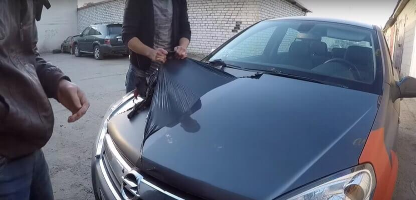 Снятие жидкой резины с авто