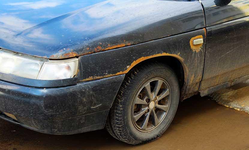 Удаление ржавчины с кузова автомобиля и покраска