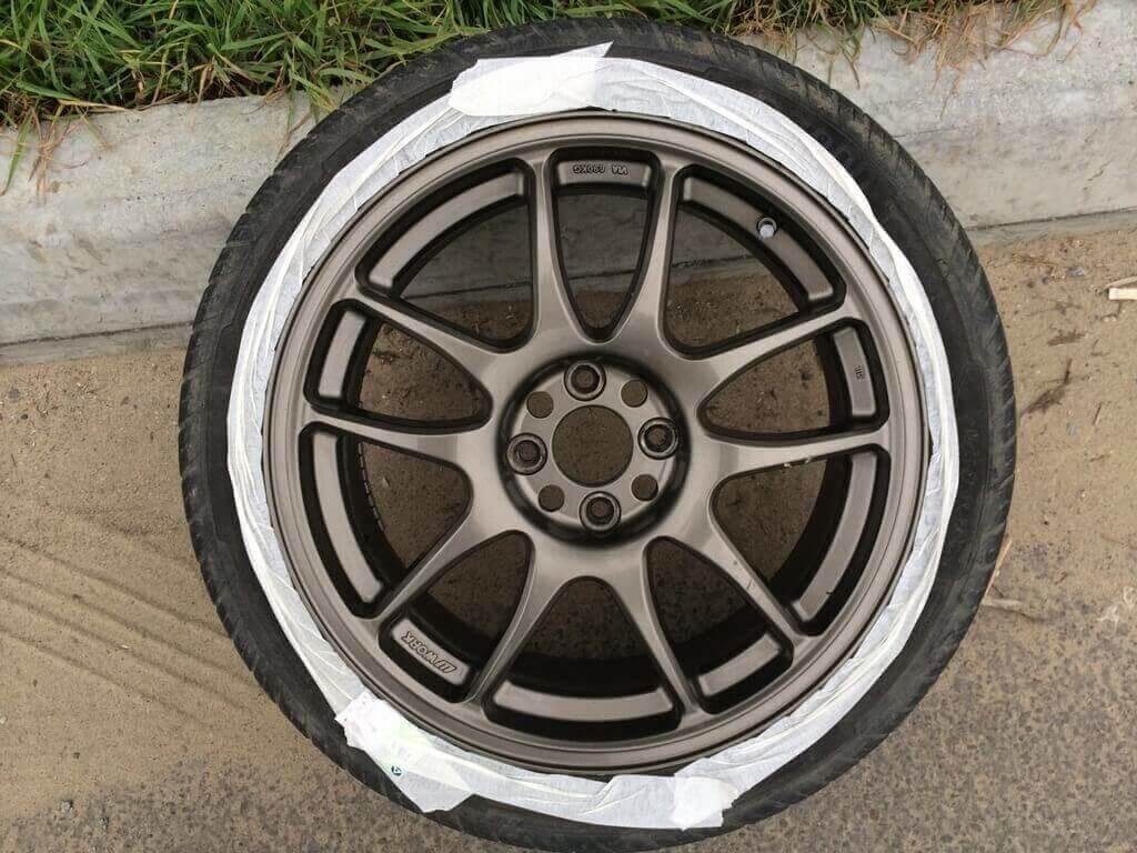 Покраска дисков машины - жидкой резиной