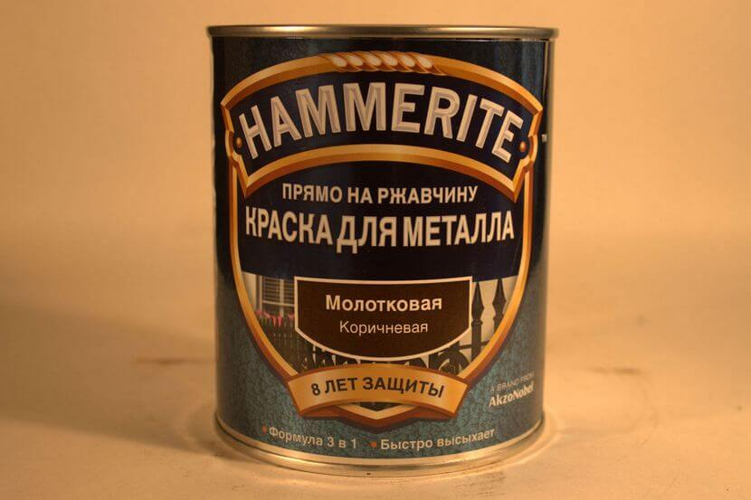 Краска молотковая по металлу