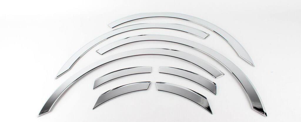 Накладки на колесные арки хромированные