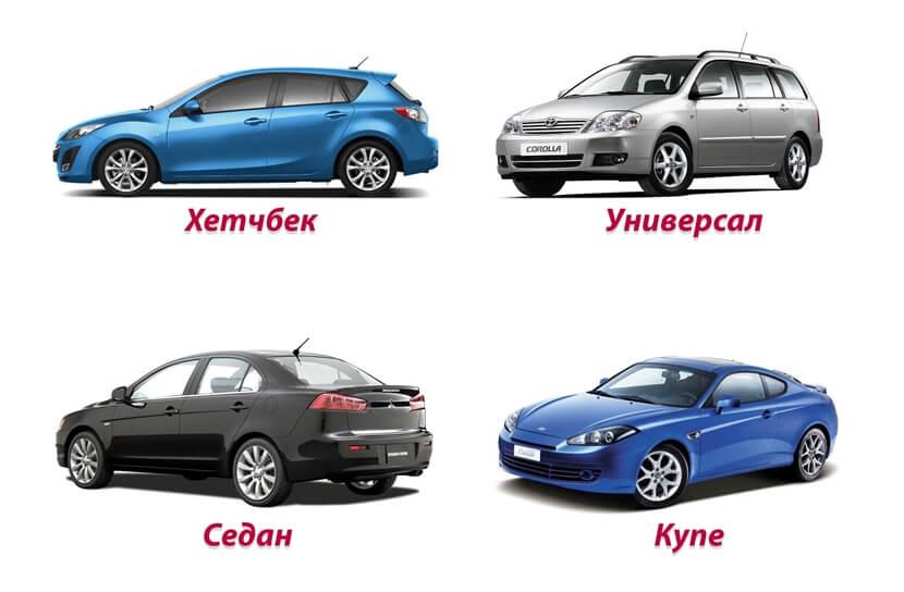 Виды кузова автомобилей