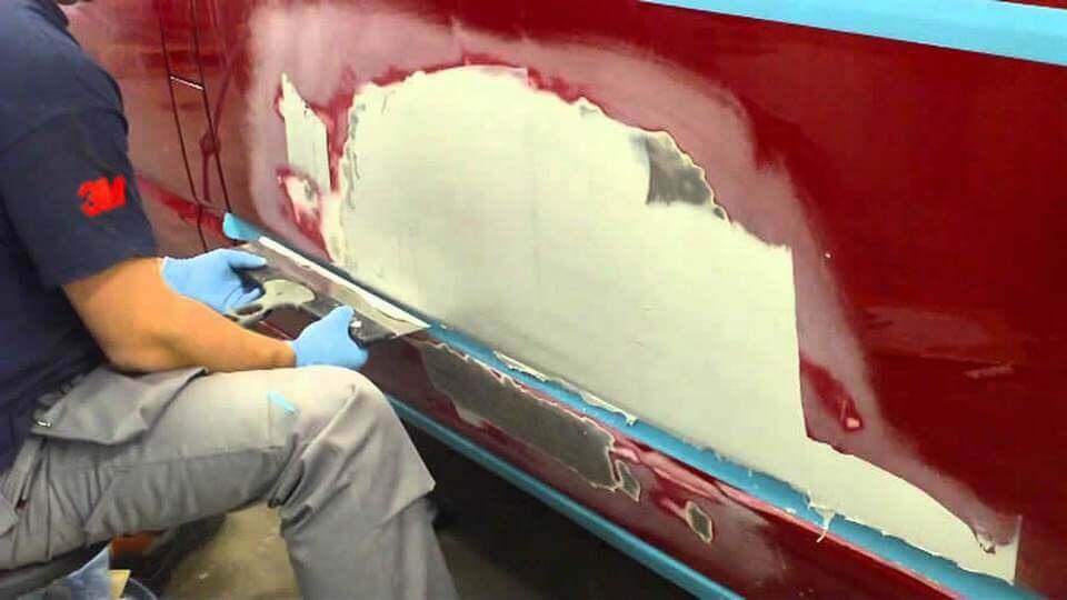 Как зашпаклевать крыло автомобиля своими руками фото 313
