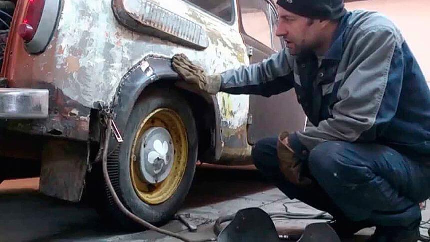 Электросварка при ремонте кузова автомобиля