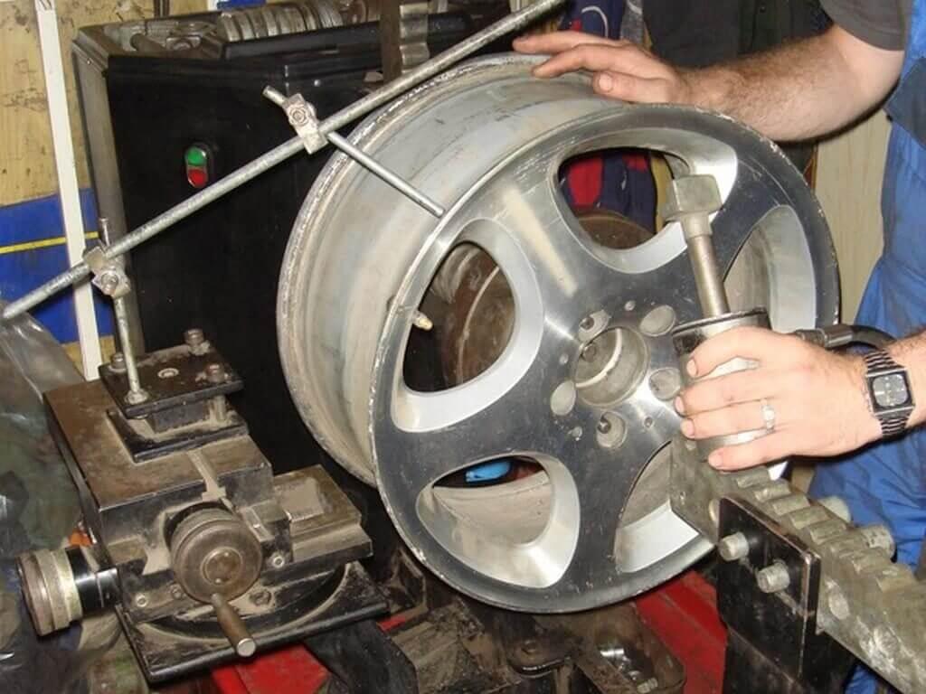 Ремонт легкосплавных дисков своими руками
