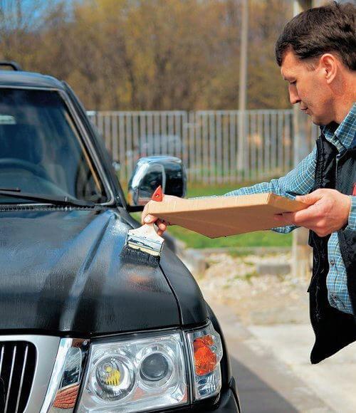 Покраска авто кистью может не дать желаемого результата