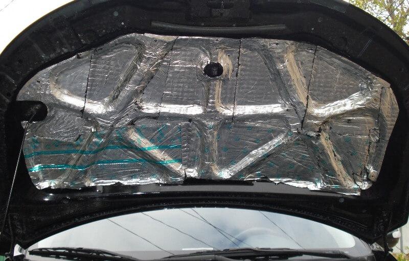 Шумоизоляция капота в машине
