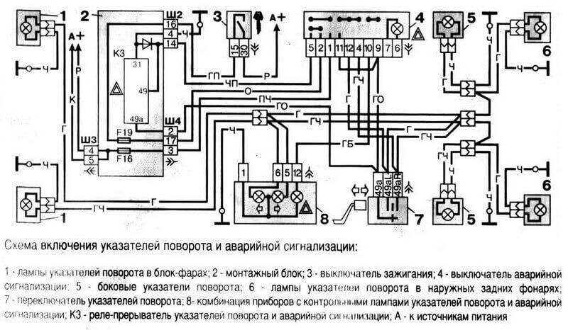 Электрическая схема Ваза