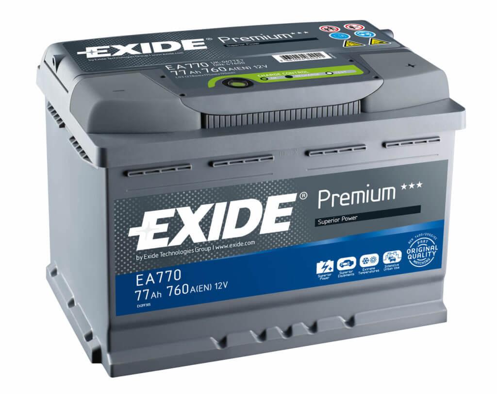Автомобильный аккумулятор Exide Premium EA770