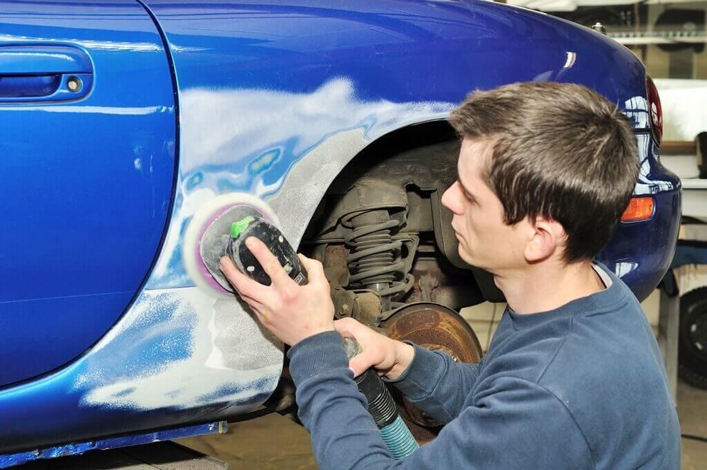 Удаление краски с кузова машины