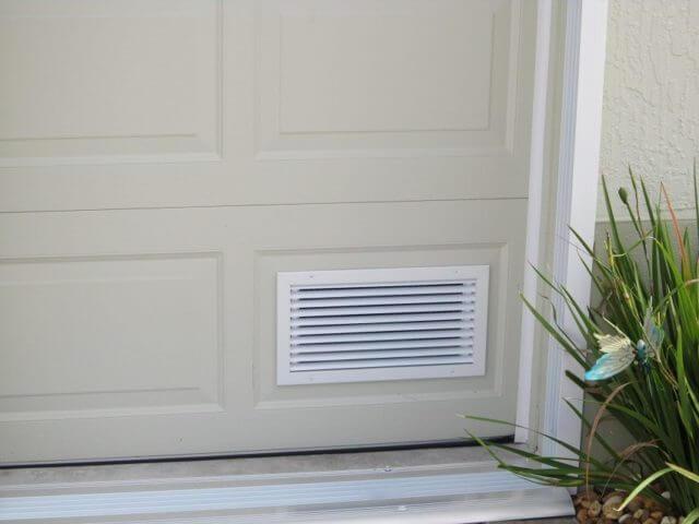 Допускается применение вентиляционных решеток для естественной вентиляции гаража