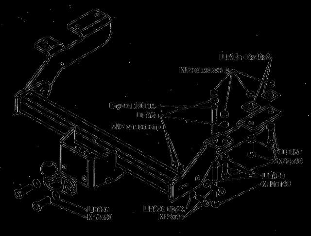 Для усиления лонжерона лучше всего установить небольшой уголочек с гаечками, таким образом вы изготовите съемный фаркоп