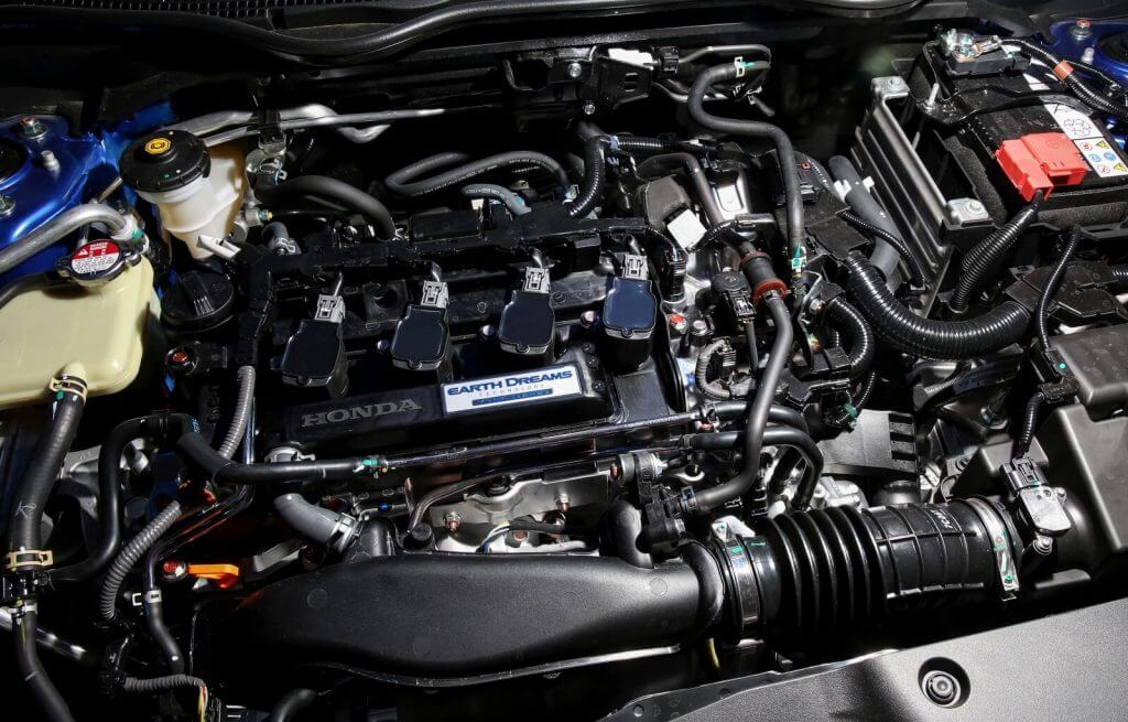 Under the hood Honda Civic VTi-LX Hatchback AU-spec (FK) '2017