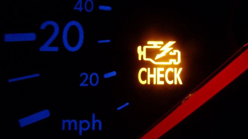 Включение индикатора Check engine