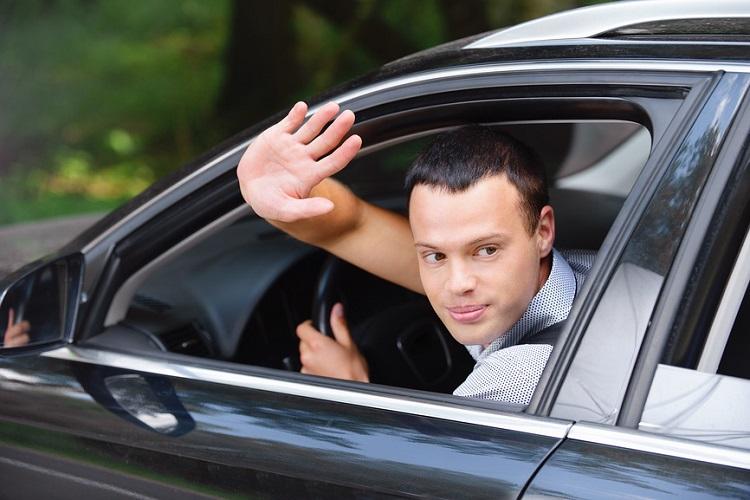 Жест водителя - ладонь