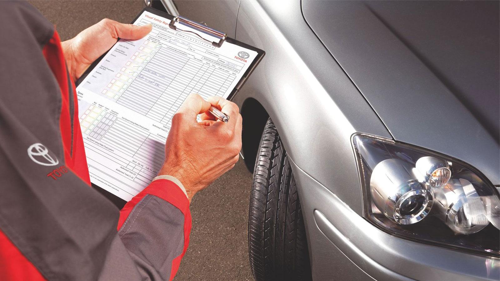 Автомобиль и заполнение бланка