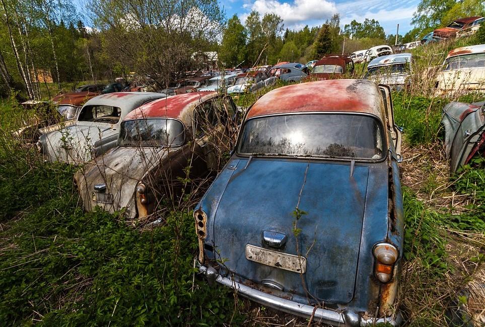 Брошенные советские авто в Финляндии