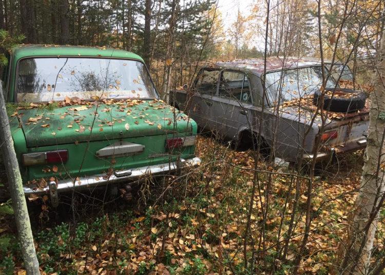 Советские машины в лесу Финляндии